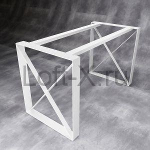 Дизайнерское подстолье в стиле ЛОФТ - белое