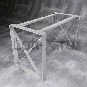 Дизайнерское подстолье в стиле ЛОФТ - серебристо-серое