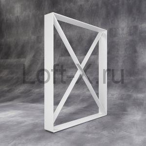 Ножка стола в стиле ЛОФТ - белая